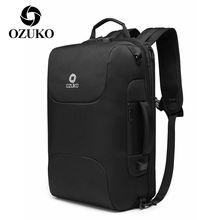 Ozuko Мужской Дорожный рюкзак с usb зарядкой для ноутбука мужской
