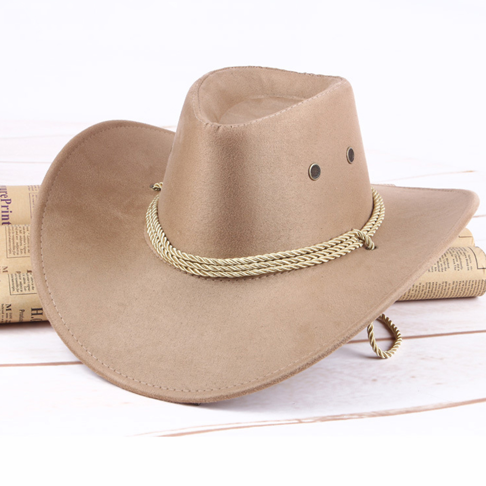 Foldable Artificial Leather Western Sun Shield Casual Wide Edge Summer Cowboy Hat
