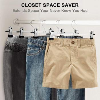 Ganchos Para Pantalones Perchas De Faldas Con Clips 20 Paquetes De Perchas De Metal Pinza Para Pantalones Para Ahorrar Espacio, Ganchos Resistentes Al óxido Ultra Finos Para