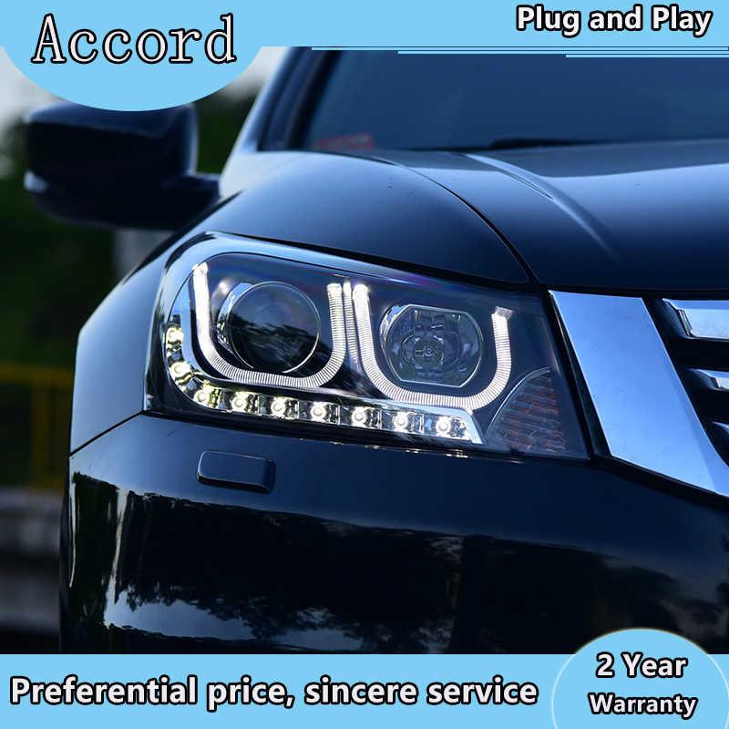 Auto Styling Led Head Lamp Voor Honda Accord Koplampen 2008-2013 Accord Led Koplamp Led Drl H7 Hid Q5 bi-Xenon Lens Dimlicht