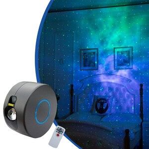 Sharelife-Lámpara LED redonda RGB Aurora, a todo Color, variado verde, proyector láser de estrella, iluminación para escenario, Fiesta en casa, lámpara de ambiente de pared r-starsky