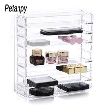 Clear Acrylic Makeup Organizer Cosmetic Storage Box Powder Desktop Women Lipstick Holder Brushes