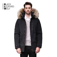 Blackleopardwolf 2019 winter down jacket men thick parka men Alaska Windproof Detachable outwear luxury fur BL 1002M