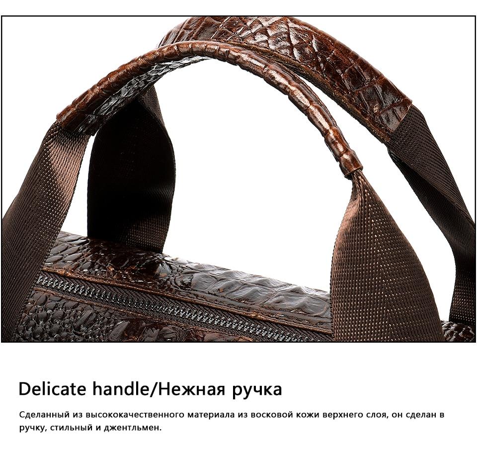 Hfecd4eda52484c3885696e2b031278087 WESTAL Men Briefcase Men's Bag Genuine Leather Office Bags for Men Laptop Bag Leather Briefcase Men Croco Design Computer Bags