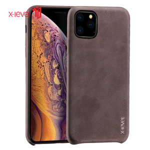 Image 2 - For iPhone 11 Pro Max 2019 Case, X Level Luxury Vintage Leather Cover Case for iPhone 11 Pro 5.8 / 6.1 Back Case Brown