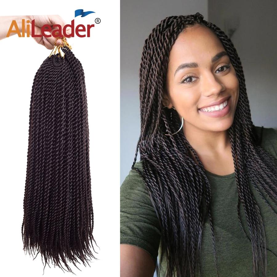 AliLeader Small Senegalese Twist Hair Crochet Braids Heat Resistant Synthetic Ombre Braids Burgundy Black Grey Crochet Hair