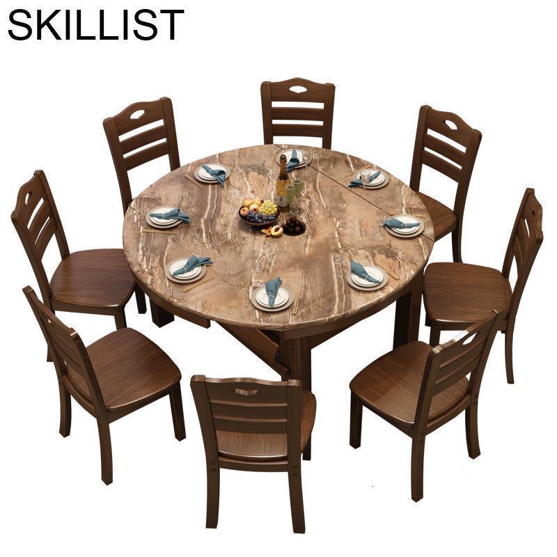 Masa Sandalye Salle Manger Moderne A Langer Eettafel Meja Makan Wooden Round De Jantar Comedor Mesa Desk Dining Room Table