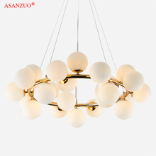 Feijão mágico vidro moderno led pingente luzes do candelabro preto barra de ouro pendurado luz jantar g4 lâmpada pingente retro loft lustre