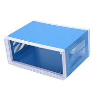 "9.8"" x 7.5"" x 4.3"" Blue Metal Enclosure Project Case DIY Junction Box Terminals     -"