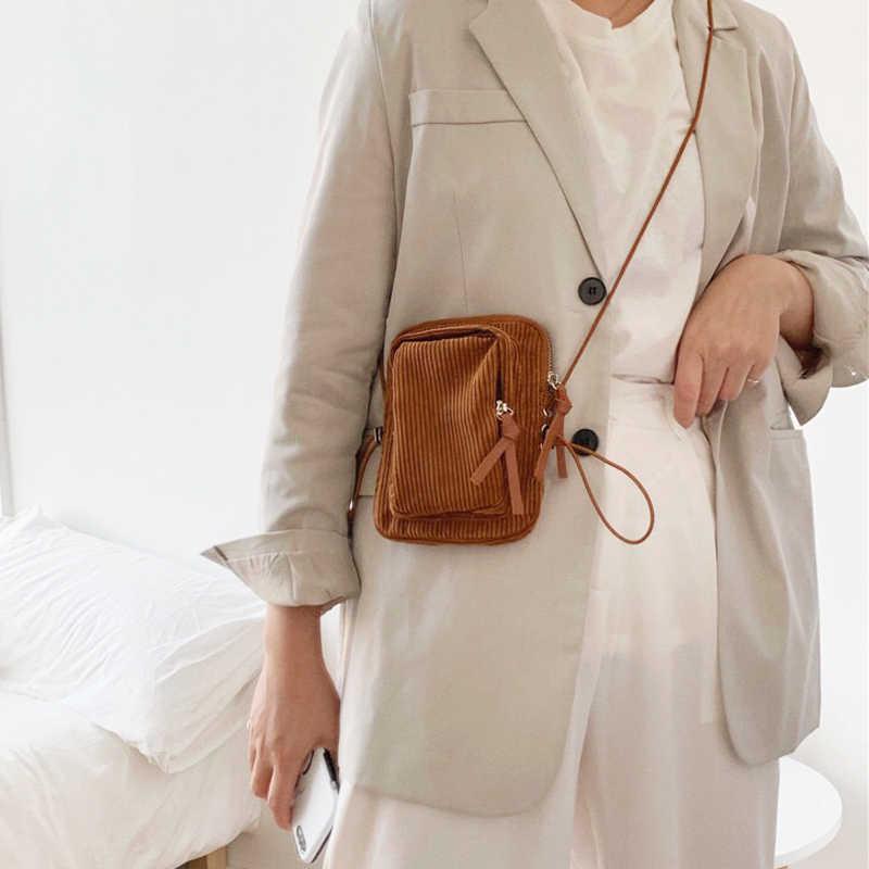 2020 Winter Mini Tasche Cord Frauen Geldbörse Jugend Crossbody Telefon Tasche Damen Schulter Tasche Marke Designer Tasche Dünnen Riemen Ganze verkauf