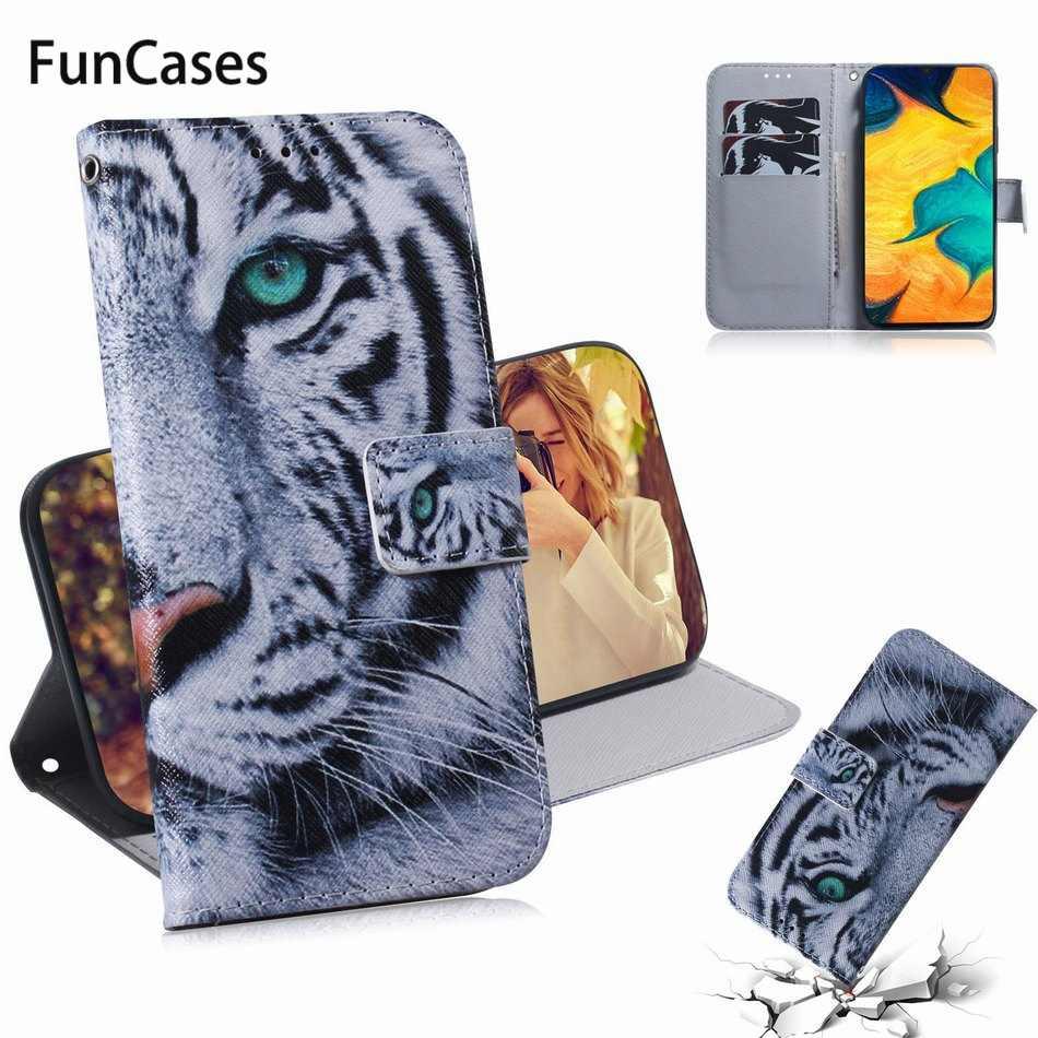Tier Fall Leder Abdeckung Für Taschen Samsung Galaxy J6 Plus A10S A30S A50S M30S S10 S10 + S10E Panda Lion tiger Wolf Hund Eule DP26F