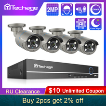 Video-Recorder Surveillance-Set Security-Camera POE CCTV Techage 8ch Nvr-Kit Audio Face-Detection