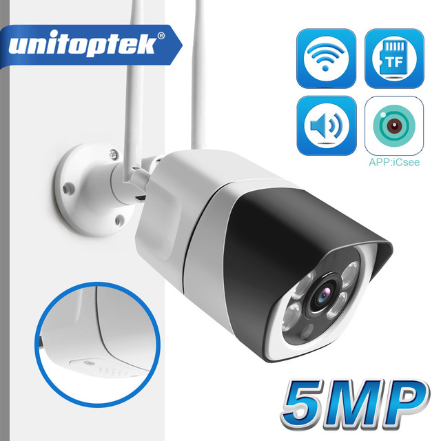 Caméra HD 5MP Wifi IP ONVIF 1080P sans fil filaire CCTV caméra de balle en plein air deux voies Audio TF fente pour carte Max 64G IR 20m P2P iCsee