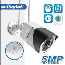 HD 5MP Wifi ip камера ONVIF 1080P Беспроводная Проводная цилиндрическая камера видеонаблюдения наружная двухсторонняя звуковая карта TF слот Max 64G IR 20m P2P iCsee