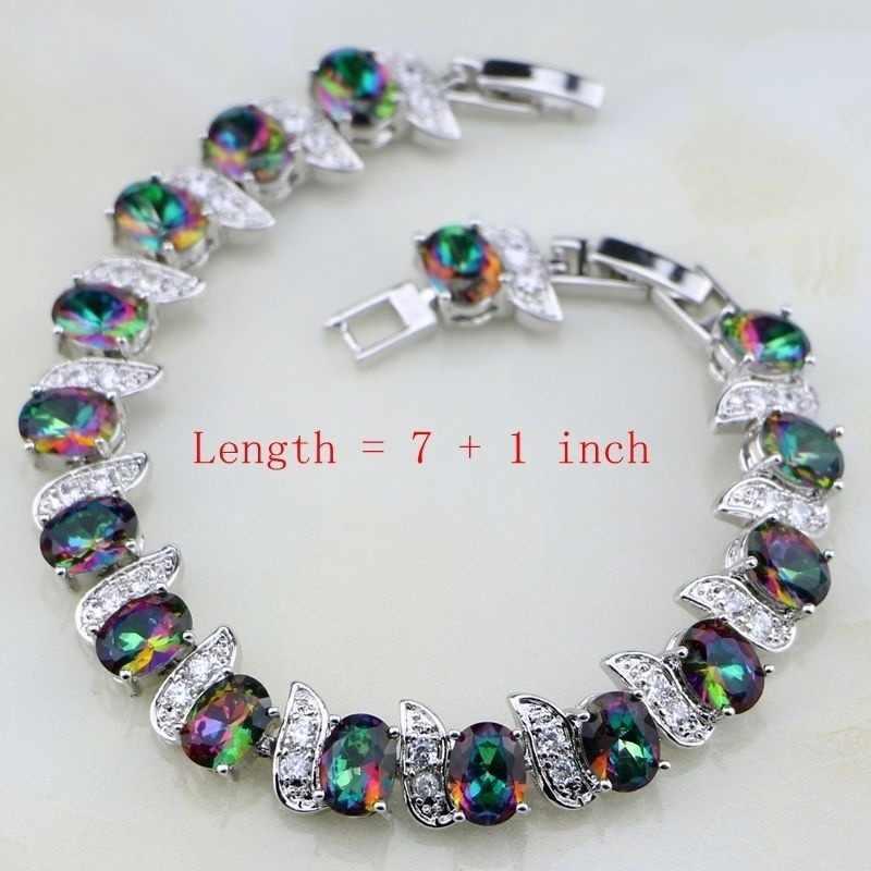 Модный Блестящий красочный кристалл инкрустированный женский роскошный свадебный кулон ожерелье серьги браслет кольцо набор ювелирных изделий