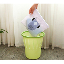 5pcs Waterproof Hanging Car Garbage Bag Paste Ttype Creative Cute Portable Storage Disposable Cleaning Classification