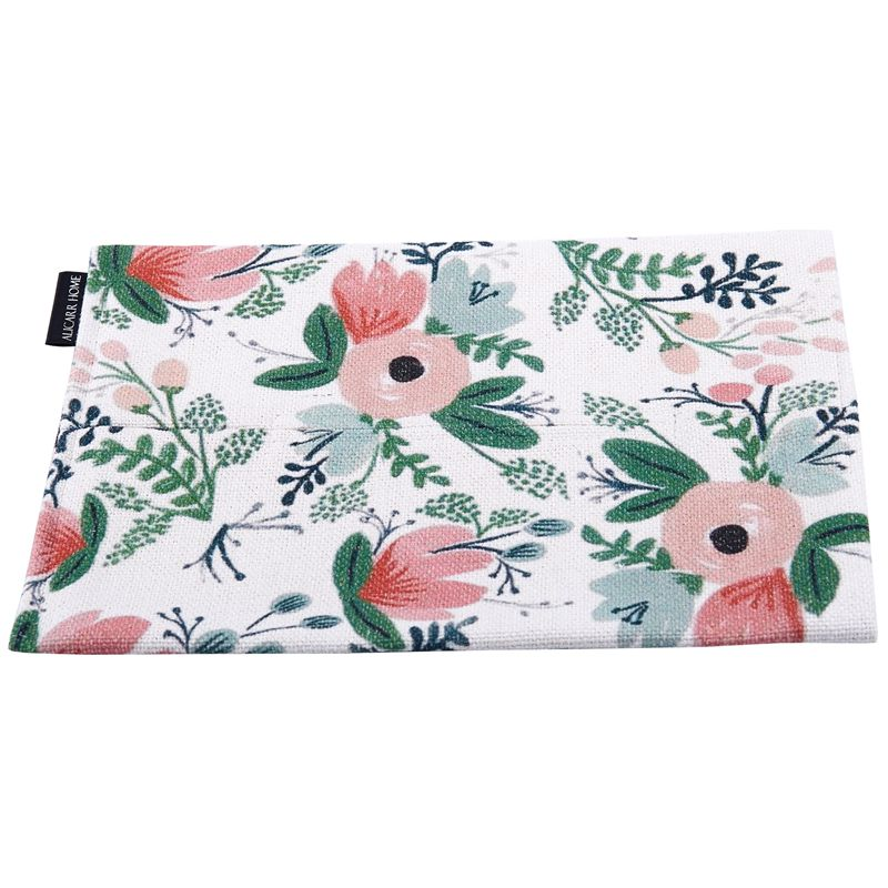 Flower Pattern Cotton Linen Car Accessories Portable Facial Tissue Box Cover Photo Color