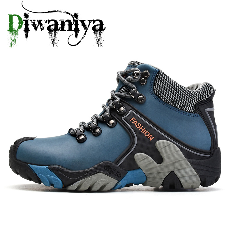 2019 New Winter Boots Men Outdoor Sport Shoes Anti Slip Sneakers Men Plush Lining Hiking Shoes for Men Warm Trekking Shoes Women|Hiking Shoes| |  - title=