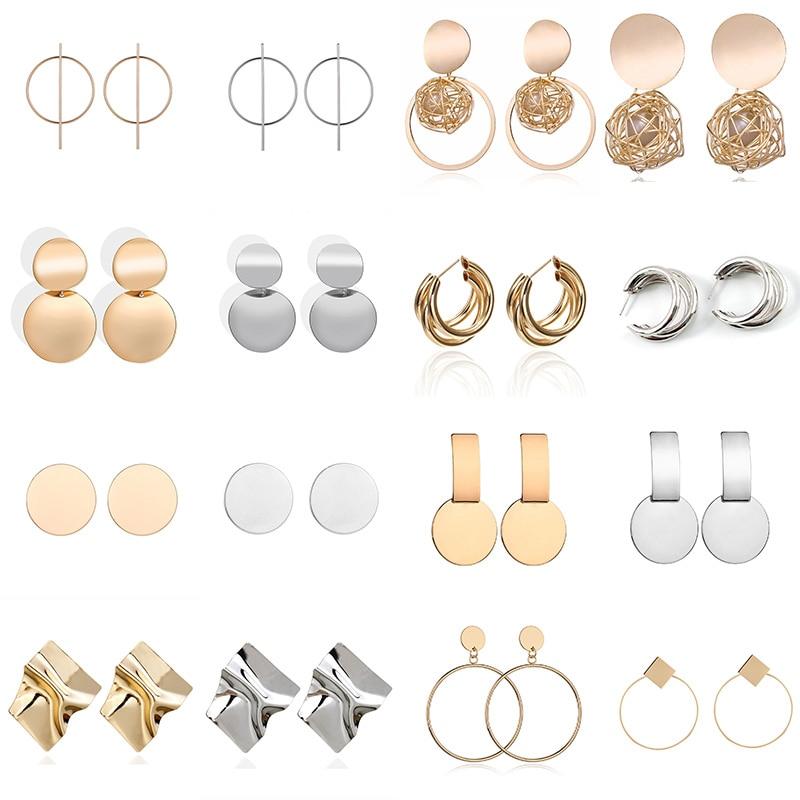 Big Drop Earrings for Women Geometric Statement Earrings female 2020 Fashion Modern Jewelry hanging kolczyki oorbellen 2