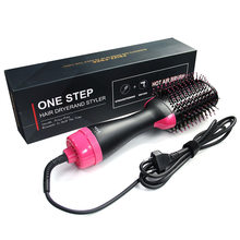3 IN 1 One Step Hair Dryer Electric Hot Air Brush Negative Dryer brush Negative Ion Generator Hair Straightener Curler