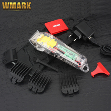 WMARK NG-108 new Limited Edition Transparent style Professional rechargeable clipper Hair Trimmer 6900 RPM 2200 battery
