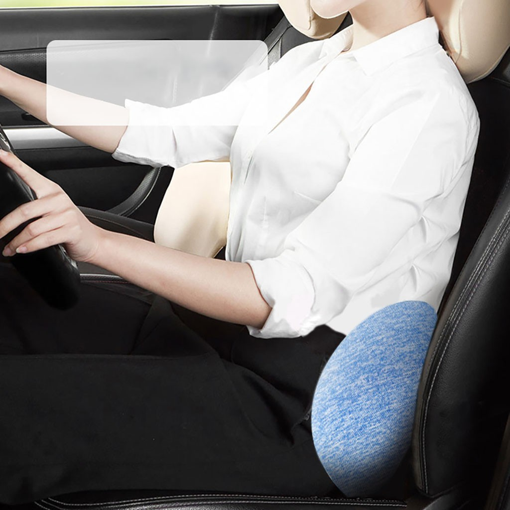 Durable Lumbar Spinal Pillow for Car Seat to provide maximum Support to Legs Spine and Waist 4