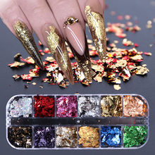 1Box Christmas Nails Glitter Butterfly Shimmering Fragment Powder DIY Image Flakes Paillette 3D Nail Art Decor
