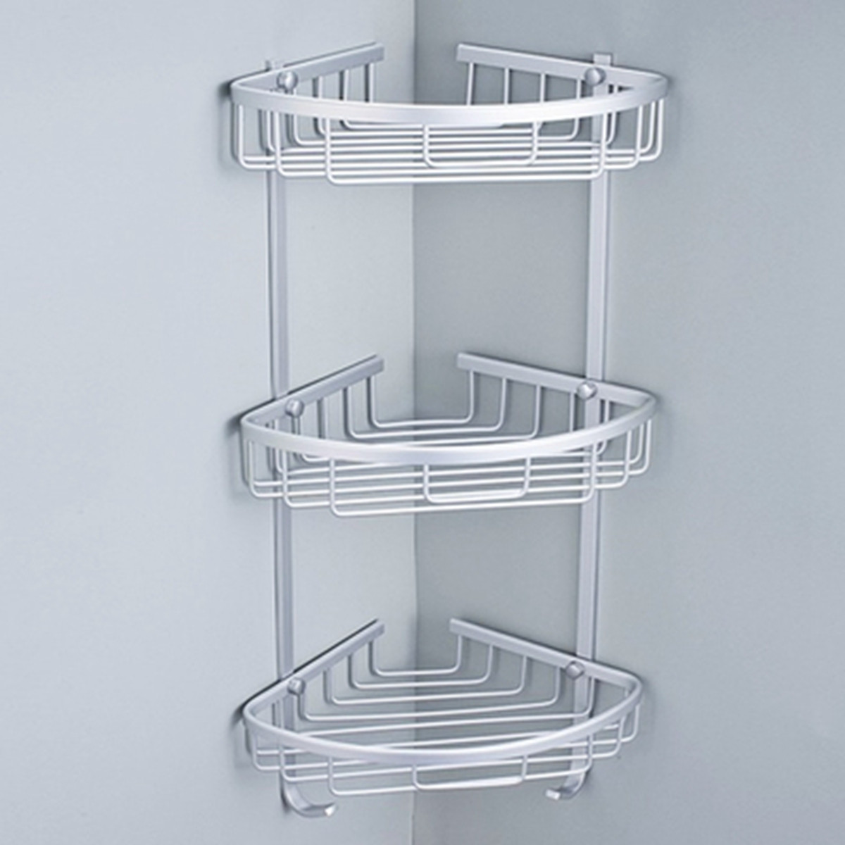 3 Layer Bathroom Punch Free  Aluminum Triangular Rack Storage Organizer Corner Shelf For Shampoo Soap Cosmetic Basket Holder