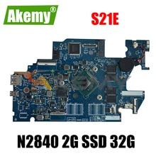 Akemy For Lenovo S21E S21E-20 AIZ30 LA-C251P Laptop Motherboard Tablet Motherboard CPU N2840 2G SSD 32G 100% Test OK