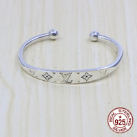 100% S925 sterling silver bracelet sweet temperament fashion letter jewelry to send a lover's birthday gift Bangle 2019 new hot