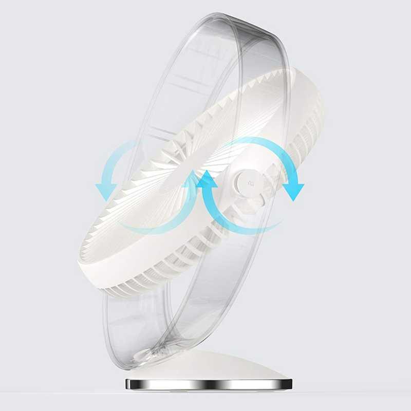Schreibtisch Fan Wiederaufladbare Lithium-Batterie Betrieben Fan, 3 Geschwindigkeiten und Leisen Betrieb, 160 grad Rotation Up und Unten Usb Tisch Fan, St