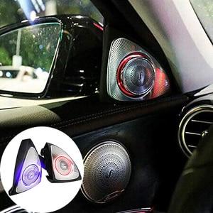 Image 1 - 자동차 인테리어 3 색 Led 주변 조명 3D 로터리 트위터 스피커 C 클래스 W205 C180, C200 C250 C300, C350 (W205)