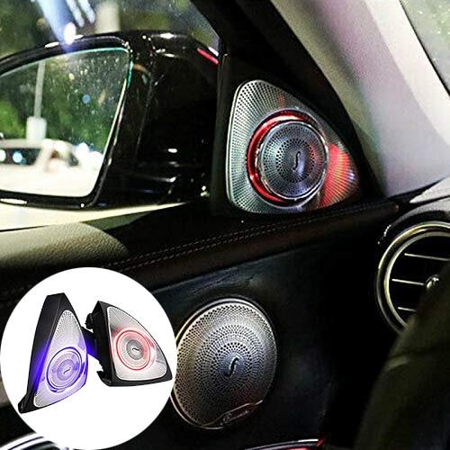 Car Interior 3 Colors Led Ambient Light 3D Rotary Tweeter Speaker for C Class W205 C180,C200 C250 C300,C350(W205)
