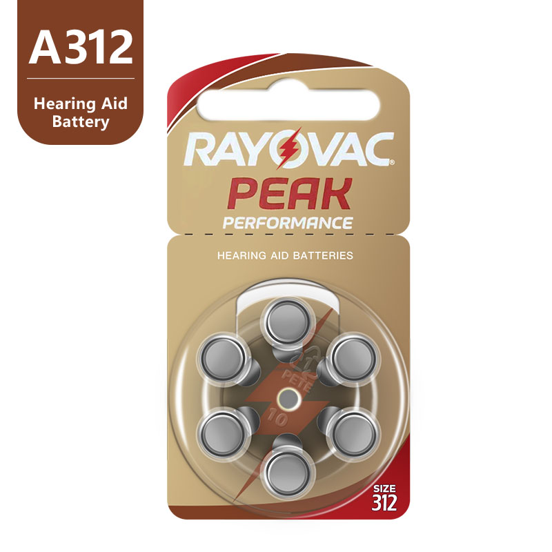 Image 2 - 60 PCS NEW Zinc Air 1.45V Rayovac Peak Hearing Aid Batteries A312 312A ZA312 312 PR41 S312, 60 PCS Hearing Aid Batteries.zinc airbattery a312hearing aid batteries a312 - AliExpress