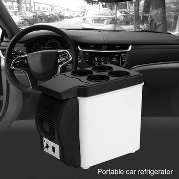 12V 6L Portable Car Refrigerator Multi-Functional Food Drinks Warmer Cooler Mini Auto Car Fridge Electric Frigobar Geladeira portable 6l car truck electric refrigerator truck travel household refrigerator min multi function fridge warmer cooler freezer