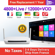Inteligente Q9 Quad Core RK3229 1G   8G Android TV Box con 8000   VOD IPTV francés árabe Italia suscripciones 1 año SUBTV cuenta