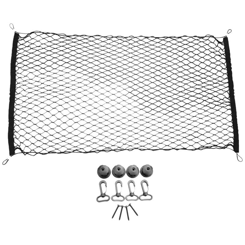 Nylon Mesh Adjustable Elastic Car Trunk Net for Car, Van, SUV, Truck