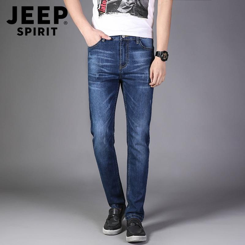 J8018 #2019 New Style Men Fashion Slim Fit Comfortable Jeans Youth Casual Versatile Elasticity Medium Waist Trousers