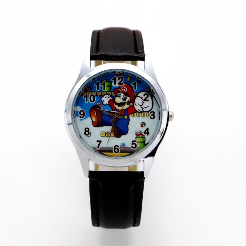 New Fashion Cartoon Super Mario Design Doll Kids Watch Children Kids Girls Boys Students Quartz Wristwatches Supermario
