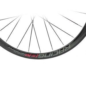 Image 2 - RS ultra light 700C wheels carbon fiber hub  4 sealed bearings aluminum alloy 36mm rims colorful decal road bike wheel set