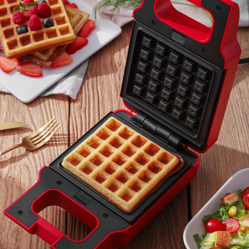 ANIMORE Electric Egg Sandwich Maker Mini Grilling Panini Baking Plates Toaster Multifunction Non-Stick waffle Breakfast Machine 2