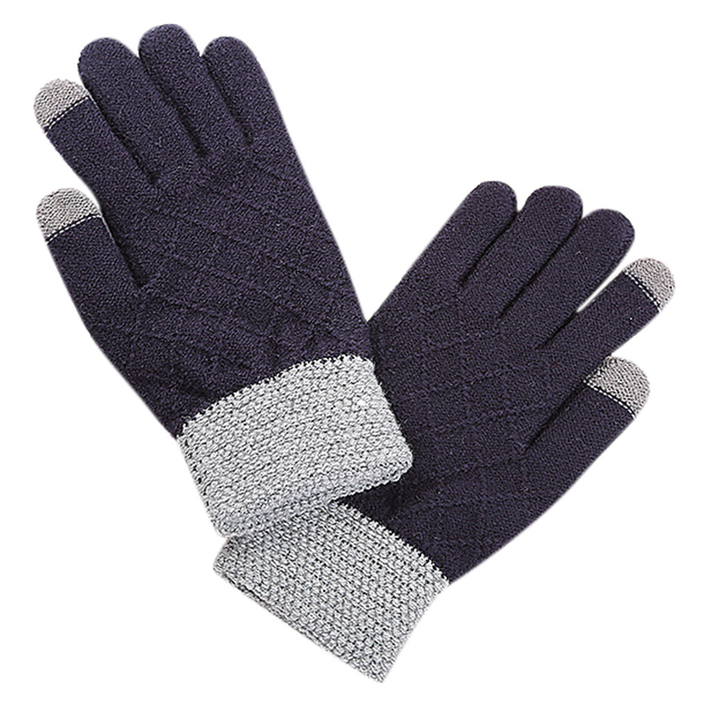 SAGACE Motorcycle Full Finger Gloves Hot Selling Winter Gloves Touch Screen Knit Mittens Winter Men