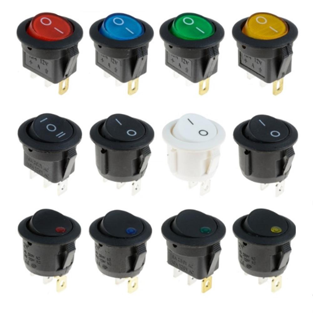 Taster schalter AUF/OFF Runde Rocker Schalter LED beleuchtet Auto Dashboard-Dash Boot Van 12V Wasserdichte kappe