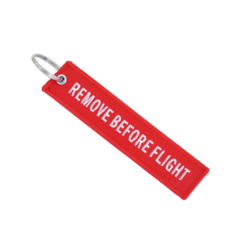 Remove Before Flight Key Chain Embroidery Key Ring Key Finder For Cars Aviation Tag Key Chain Small Business Gift