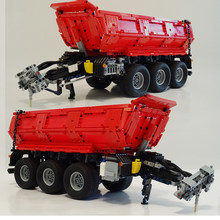 high-tech building block trailer MOC-8830 is suitable for 42054 tractor dump trailer carriage assembly toy boy birthday gift