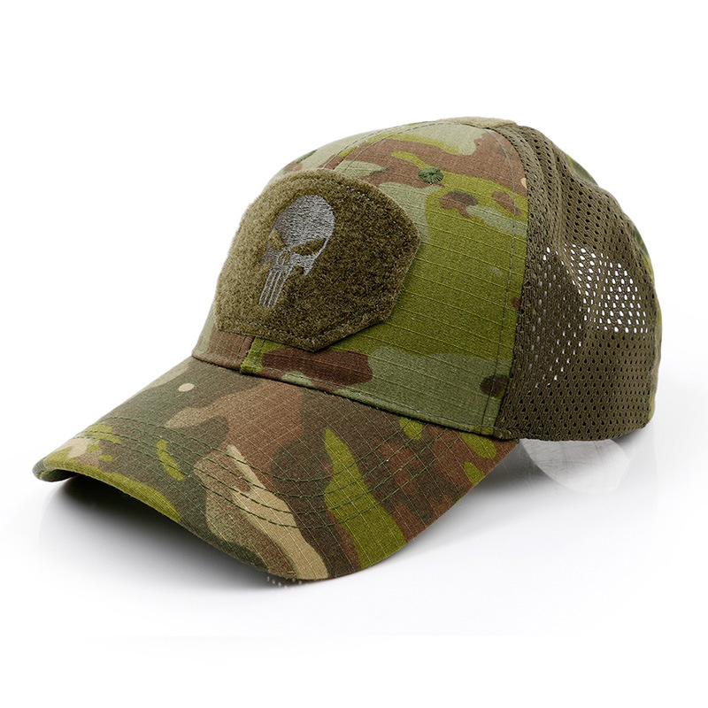 Punisher Skull Baseball Cap Tactical Summer Sunscreen Hat Camouflage Military Army Camo Airsoft Hunting Camping Hiking Fishing