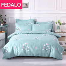 Four-piece bedding thick sanded duvet cover sheet single double student dormitory bunk bed three-piece set