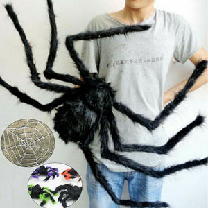 30/50/75cm Spider Halloween Decoration Haunted House Prop Indoor Outdoor Giant Hairy Giant Spider Web Party Holiday Decor Toy(China)