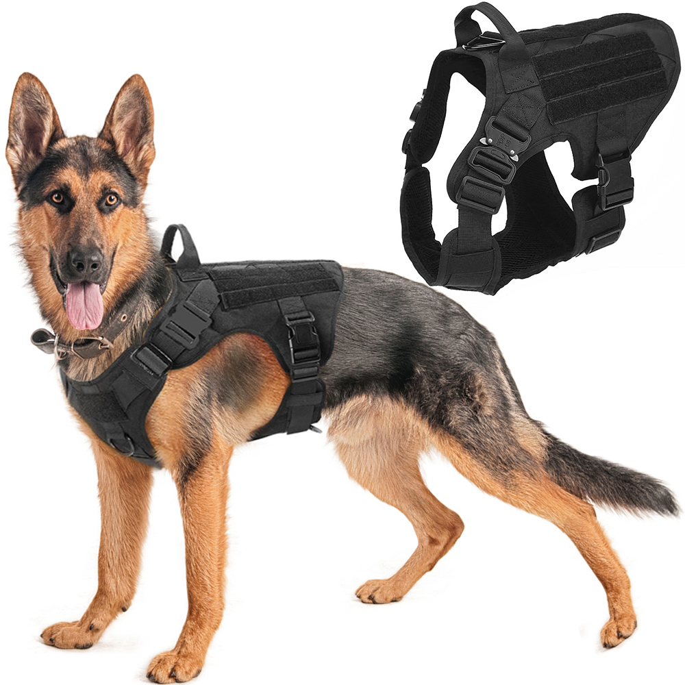 Leash Dog-Vest Pet-Training German Shepherd Dogs Tactical Metal-Buckle Military And K9
