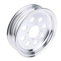 Silver Tone Tubeless Hub Tire Tyre Wheel Rim for Motorcycle Honda/Z50 Mini Trail 50/Monkey Bike